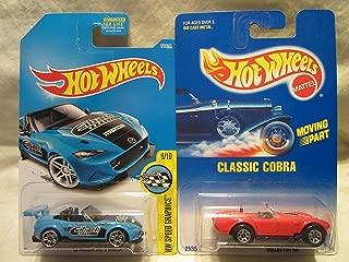 Hot Wheels HW Speed Graphics '15 Mazda MX-5 Miata & Classic Cobra #31 Die Cast 1/64 Scale 2 Car Bundle!