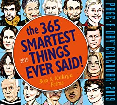 The 365 Smartest Things Ever Said Page-A-Day Desk Calendar 2019 [6
