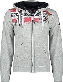 Geographical Norway FESPOTE Men - Sweat À Capuche Poche Kangourou Homme - Sweats À Logo Homme - Sweatshirt Shirt Hoody Cha...