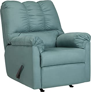 Ashley Furniture Signature Design - Darcy Rocker Recliner - Manual Pull Tab Reclining - Contemporary - Sky