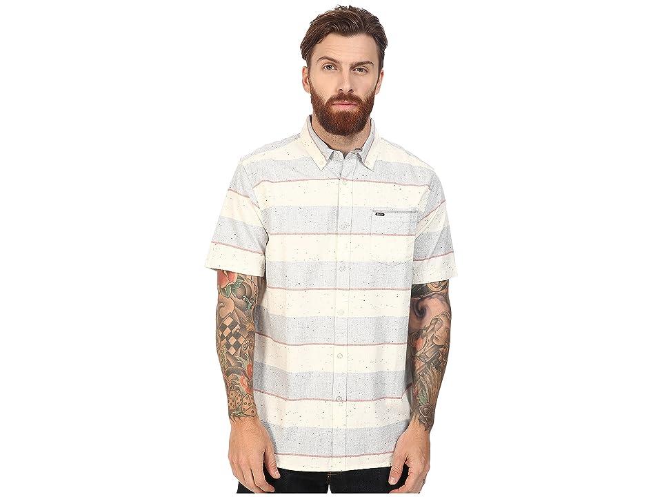 Rip Curl Back Burner Short Sleeve Shirt (Blue Grey) Men