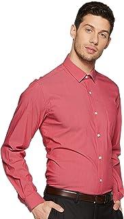 Louis Philippe Men's Striped Slim fit Formal Shirt (LPSFMSLF969880_Red 40)
