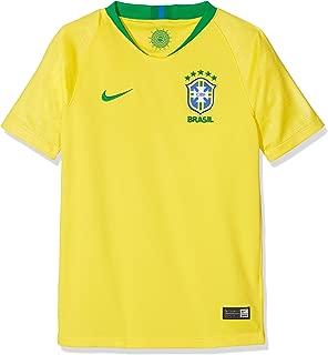 Nike 2018-2019 Brazil Home Football Soccer T-Shirt Jersey (Kids)