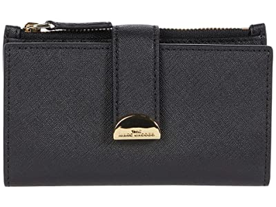 Marc Jacobs Half Moon Medium Flat Wallet (Black) Wallet Handbags