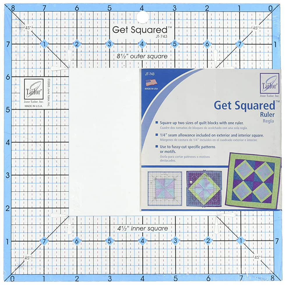 June Tailor 8-1/2-Inch Outer 4-1/2-Inch Inner Get Squared Ruler