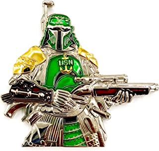 US Navy Ronin Samurai Mash-Up Star Wars Boba Fett, Chief Petty Officer (CPO) �Navy Chief, Navy Pride� Challenge Coin by AIIZ Collectibles