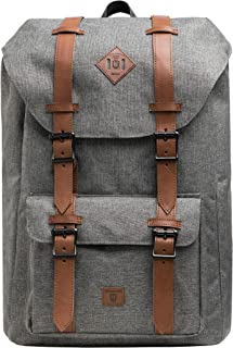 Indicode Heiss Unisex Rucksack 25L m. gepolsterter 15 Zoll Laptoptasche | trendiger Schulrucksack m. 15 Laptopfach Wanderrucksack Backpack Daypack Tagesrucksack Fahrradrucksack