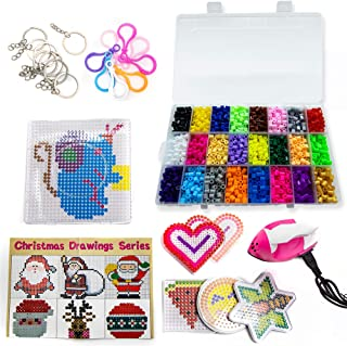 Fuse Beads Kit - Create Colorful, Melty Bead Art Patterns - Includes Iron for Melting Beads! Lots of Bead Craft Accessorie...