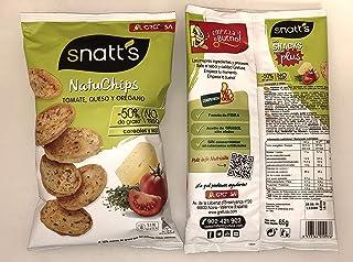 Snatt's Natuchips con Tomate Queso y Orégano GREFUSA Bolsa [Pack 12 x 65 g]