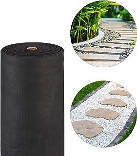 Relaxdays, Negro, Malla Antihierbas 150 g/m² Permeable y Resistente a los Rayos UV, Polipropileno, 50 m