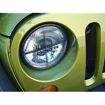 01-1198-SMDR Quad-Bar 7 Xenon Headlights with Red SMD LED City Lights for Jeep JK Delta Lights