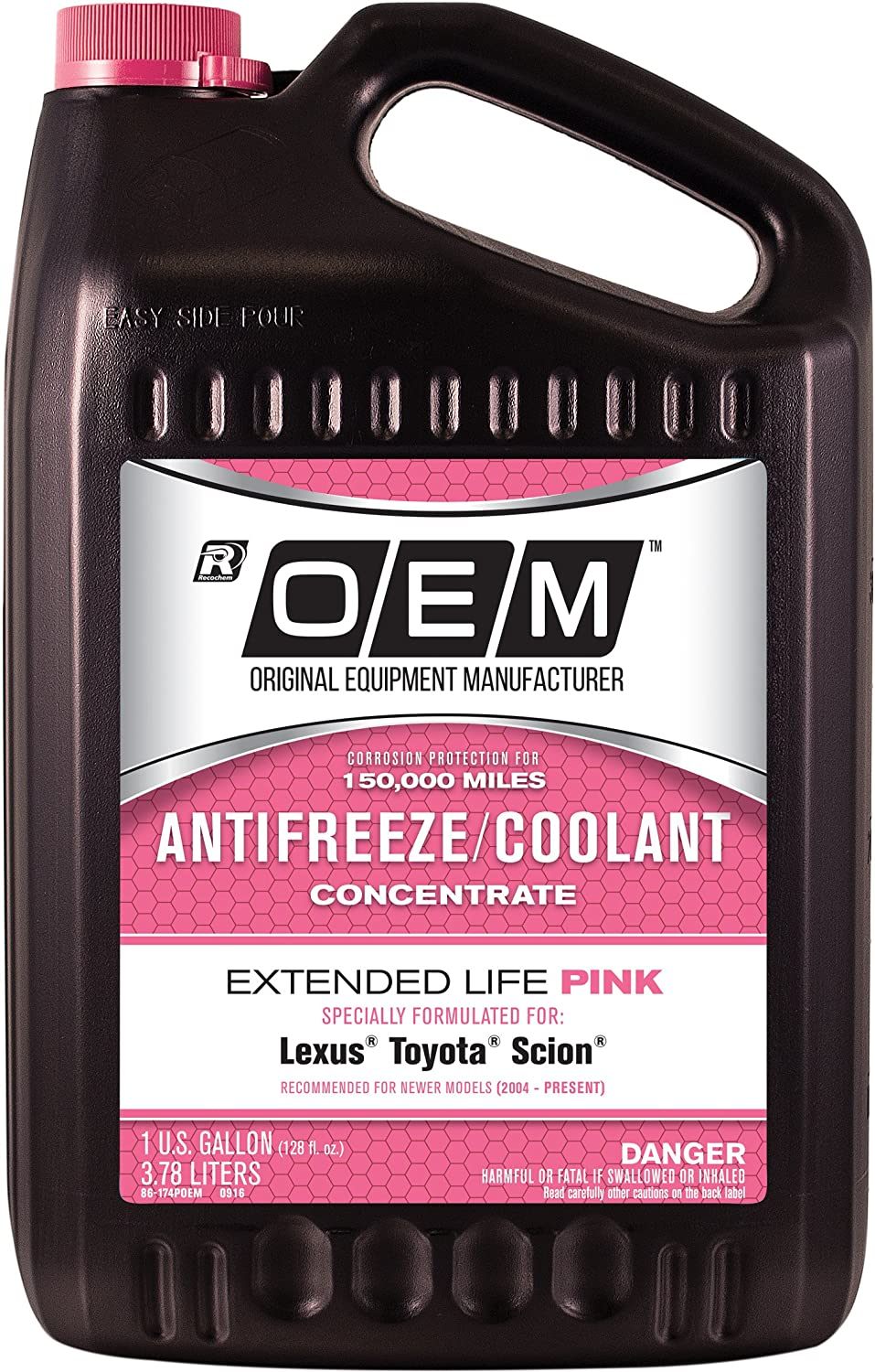 Recochem OEM 86-174POEM Pink New products, world's highest quality popular! Concentrate Sale special price Antifreeze Premium Exte