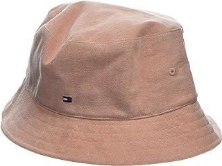 Tommy Hilfiger 汤米·希尔费格 女式条纹渔夫帽平顶帽,橙色(天堂小鸟 812),均码(尺码:操作系统)