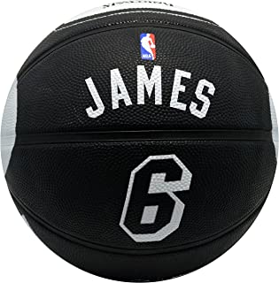 Spalding Miami Heat Lebron James #6 Jersey Rubber Basketball