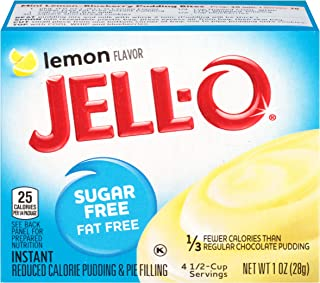 JELL-O Lemon Instant Pudding & Pie Filling Mix (1 oz Boxes, Pack of 24)
