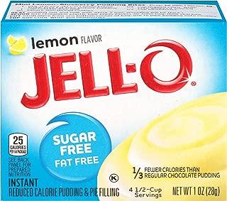 JELL-O Lemon Sugar Free Fat Free Gelatin Dessert Mix (1 oz Box)