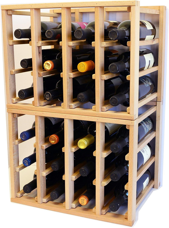 sfDisplay.com LLC. 24 Long Beach Mall Bottle Modular Regular discount Wine Rack A Stack Stackable