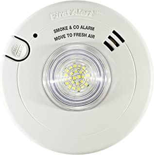 First Alert BRK 7030BSL Hardwired Hearing Impaired Combination Alarm with Led Strobe Light