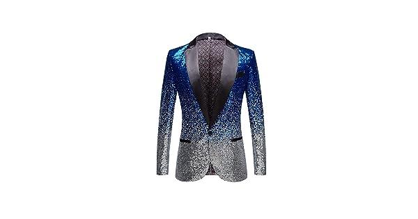 Btaidi Mens Floral Party Dress Shiny Sequin Jacket Groom Wedding Suit Blazer Prom Tuxedo