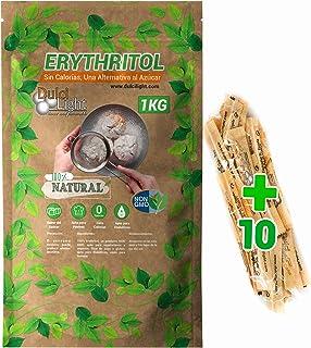 comprar comparacion Eritritol 100% Natural Envase Ecologico 1Kg Edulcorante Cero Calorias. Ideal para Reposteria, y Dietas. DulciLight el Sabo...
