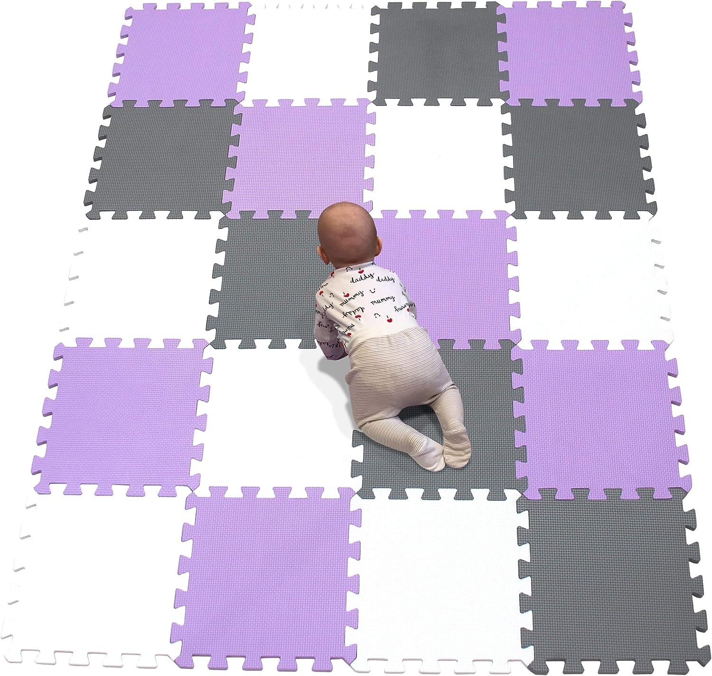 YIMINYUER Puzzlematte K/älteschutz Kinderspielteppich Spielmatte Spielteppich Matte Schaumstoffmatte Kinderteppich Blau R07G301020 abwaschbar