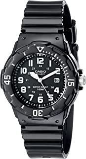 Women's LRW200H-1BVCF Classic Analog Japanese Quartz Black Resin Watch
