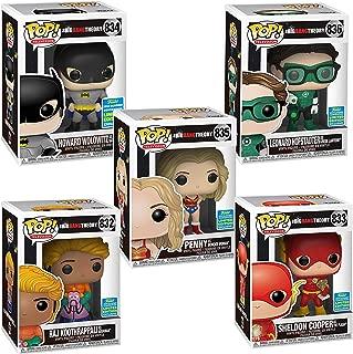 The Big Bang Theory Pop TV Superhero SDCC 2019 Limited Edition Exclusive Set of 5 - Penny, Raj, Howard, Sheldon & Leonard