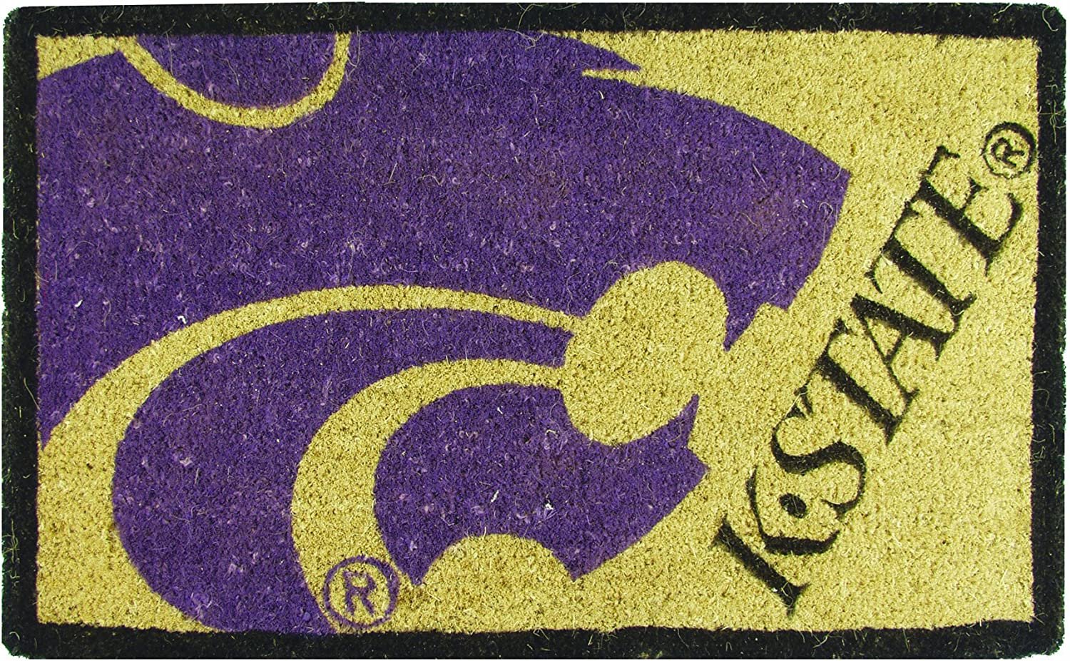 Team Sports America 0007L613 18 X30  Welcome Mat Bleached-Kansas St, Multi-colord