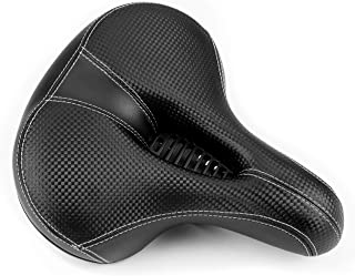 Lifes Best Brand Bike Seat Cushion Bicycle Accessories for Men or Women. Oversized,Wide Comfortable Foam Saddle. Works for Mountain Ride,Cruiser, Kids, Spin or Exercise Bike. Gives Great Back Support