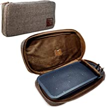 Tuff Luv Herringbone Tweed NFC Travel Case for Bang & Olufsen B&O Beoplay A2 Bluetooth Speaker with NFC Tag - Brown photo