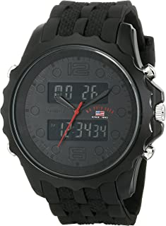 Sport Men's US9269 Black Watch With Black Rubber Band