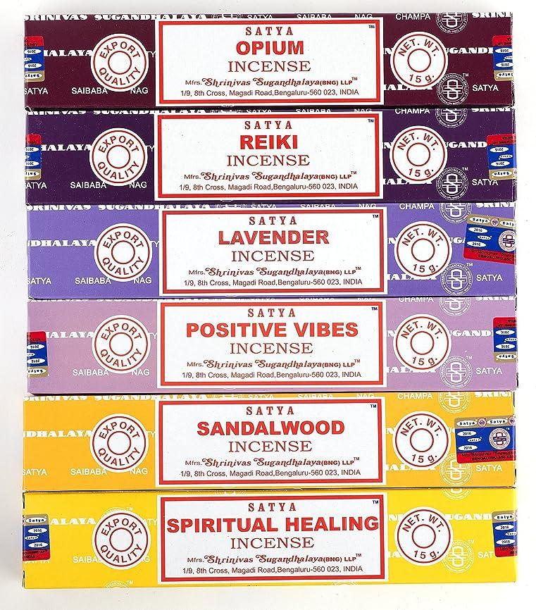 ビバ誇大妄想水Nag Champa 6?Piece Variety Pack?–?Opium、レイキ、ラベンダー、Positive Vibes、サンダルウッド、Spiritual Healing