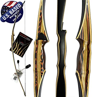 """Southwest Archery Scorpion Traditional Hunting Long Bow – 68"""" Longbow – Right & Left Hand – Draw Weights in 25-60 lbs – USA Based Company – Perfect for Beginner to Intermediate – 1 Year Warranty"""