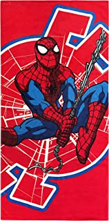 Jay Franco Marvel Spiderman Swing Around Kids Bath/Pool/Beach Towel - Super Soft & Absorbent Fade Resistant Cotton Towel, Measures 28 inch x 58 inch (Official Marvel Product)