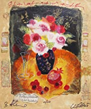 Alexander Wissotzky FRUIT AND ROSES Hand Signed Limited Edition Serigraph