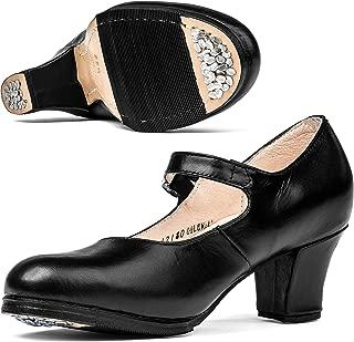Tonantzin 227 Women's Folklorico Flamenco Dance Shoes
