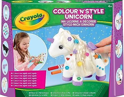 Crayola Colour n Style Unicorn Craft Kit with Washable Felt Tip Colouring Pens