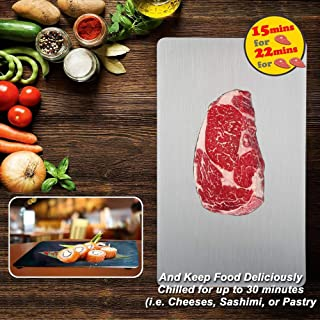 PDair Fast Defrosting Tray for Frozen Meat, FDA Approved Rapid Thawing Plate Board for Frozen Foods, Rapid Defrosting Mat Pad for Thawing without Electricity Microwave or Hot Water