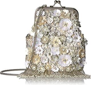 Mary Frances In Love Embellished Crossbody Clutch Handbag, Ivory
