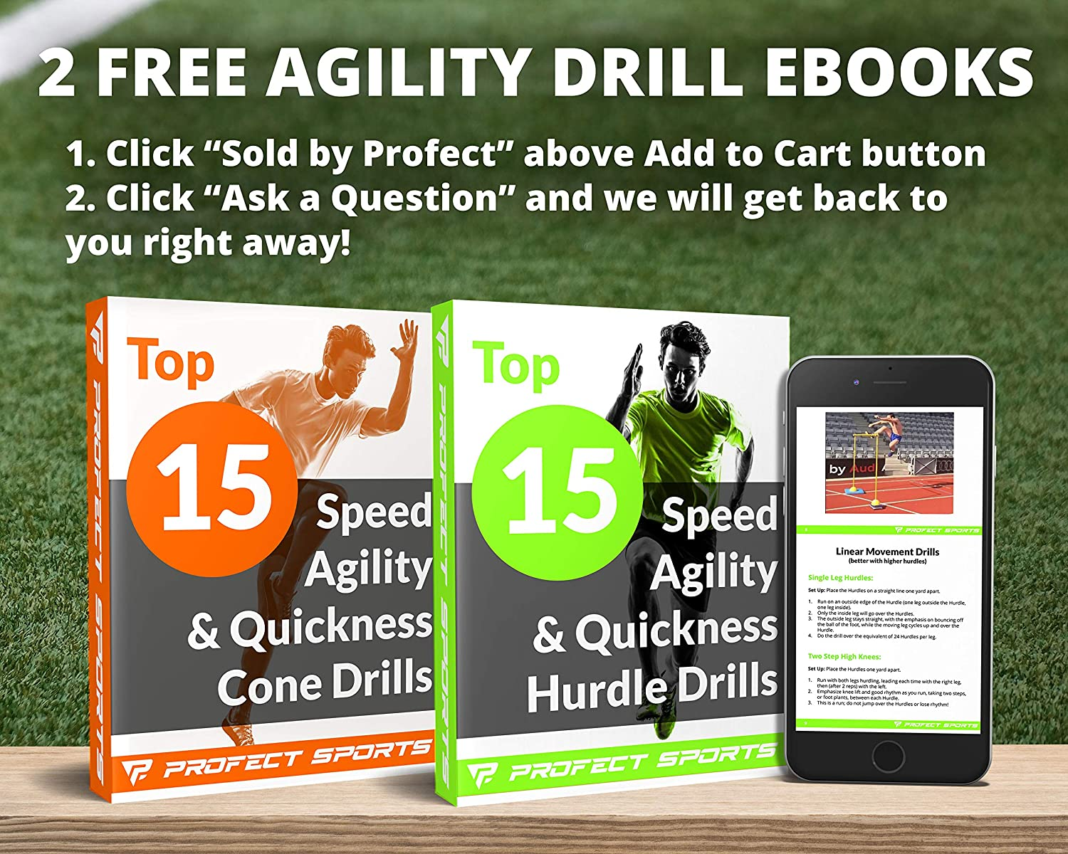 Plyometric Speed Training 6, 9 or 12 Height Pro Adjustable Hurdles and Cone Set Sports Includes Carry Bag /& 2 Agility Drills eBooks with 12 Disc Cones for Soccer 6 Agility Hurdles