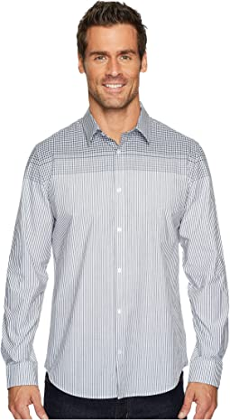Calvin Klein - Engineered Plaid Stripe Button Down Shirt