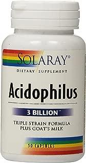 Solaray Acidophilus Plus Goat's Milk 3billion Supplement, 50 Count