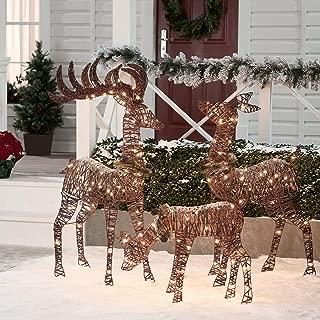 ISbonusIS Christmas Decorations Deer Family Park Decor Light Ideas Ornaments