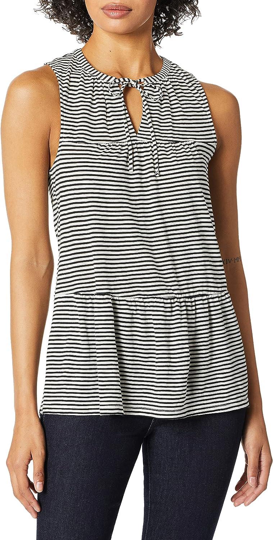 Lucky Brand trend rank Women's Branded goods Stripe Ruffle Tunic