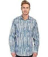BUGATCHI - Brush Stroke Classic Fit Long Sleeve Woven Shirt