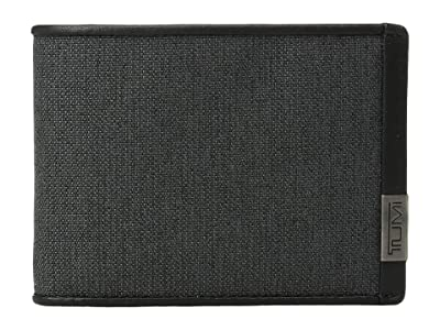 Tumi Alpha Double Billfold (Anthracite/Black) Bill-fold Wallet
