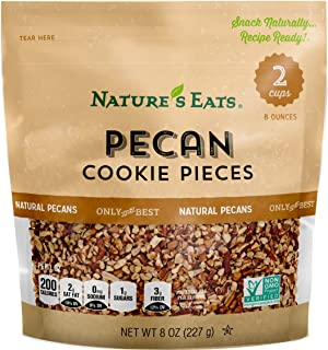 Nature's Eats Pecan Cookie Pieces, 8 Ounce