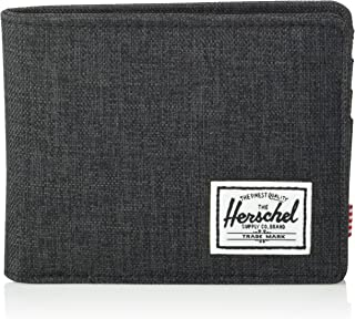 Unisex-Adult's Roy RFID Wallet, Black Crosshatch, One Size