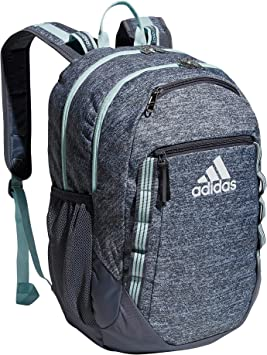 adidas Excel 6 Backpack, Jersey Onix Grey/Onix Grey/Halo Mint Green, One Size