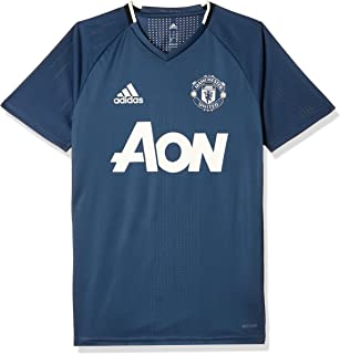 Adidas Manchester United FC Official 2016/17 Training Jersey - Adult - Mineral Blue/Collegiate Navy/Chalk White -